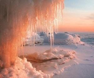 ice, theme, and orange image