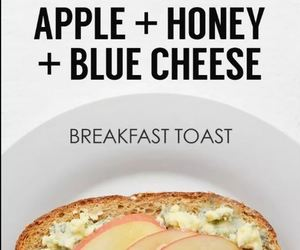apple, blue cheese, and breakfast image
