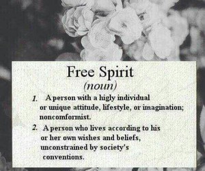 free, free spirit, and quote image
