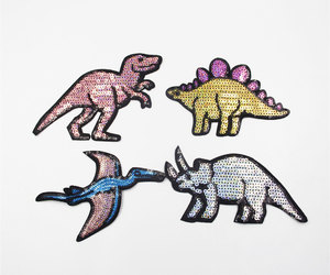 dinosaur and patches image