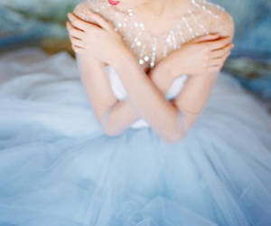 blue, bridal, and cinderella image