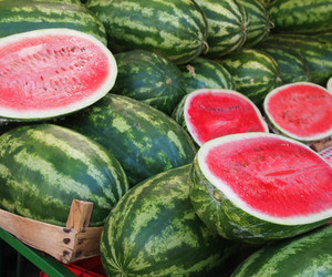 watermelon, food, and summer image