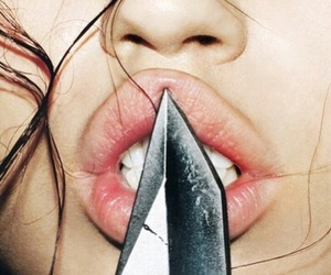 lips, knife, and sexy image