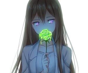 anime, anime girl, and flower image
