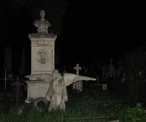 angel, cemetery, and dark image