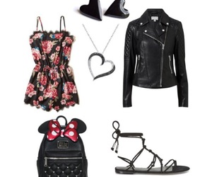 black, floral, and mouse image