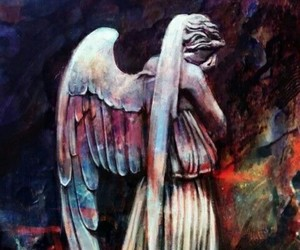 doctor who, weeping angel, and fanart image