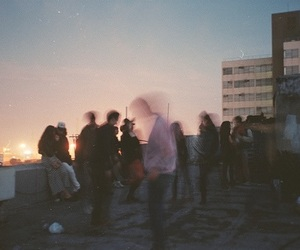 grunge, sunset, and party image