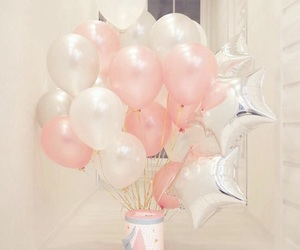 balloon, girly, and pink image