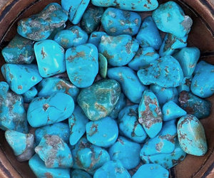 blue, stones, and tropical image