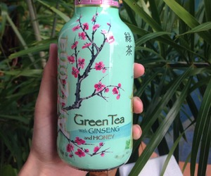 drink, green tea, and nature image