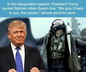 batman, movie, and trump image