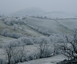 landscape, snow, and england image