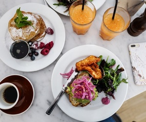 avocado, panncakes, and brunch image