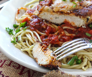 food, Chicken, and parmesan image