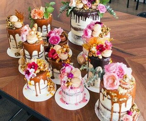 cakes, delicious, and pink image