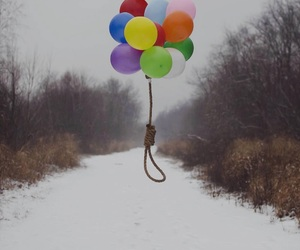 balloons and snow image