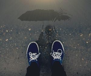 rain, vans, and umbrella image
