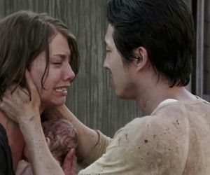 sadness, the walking dead, and lauren cohan image