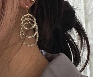 earrings, aesthetic, and fashion image