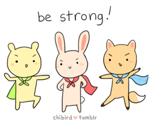 be, strong, and v image