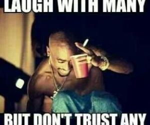 trust, laugh, and quotes image