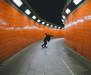 skate, orange, and boy image