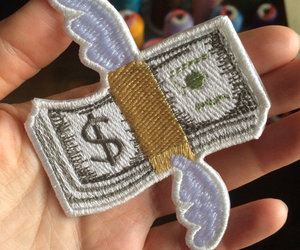 money, patches, and emoji image