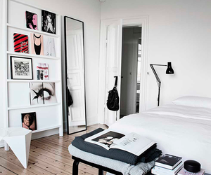bedroom, art, and white image
