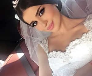 beauty, wedding, and dress image