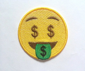 patches, emoji, and emoji dollar sign image