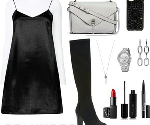 black and white, style, and grey bag image