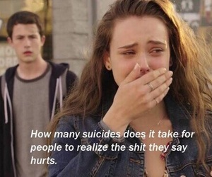 13 reasons why, quotes, and suicide image