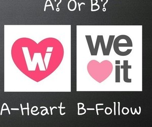 heart, follow, and we heart it image