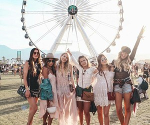 girls, friends, and festival image