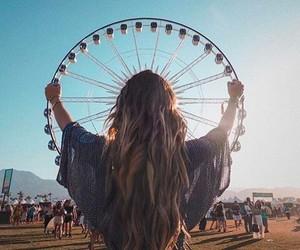 girl, coachella, and festival image