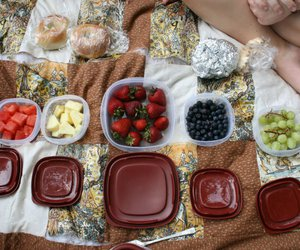 fruit, picnic, and ruit image