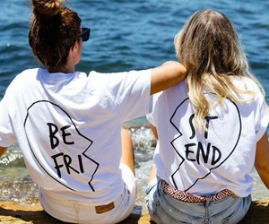 girl, best friends, and friends image