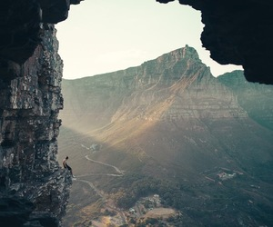 adventure, cape town, and cave image