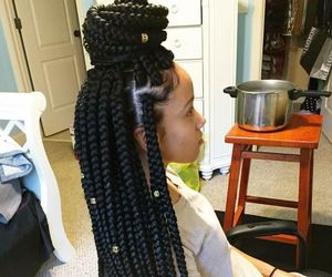braids, hair, and box braids image