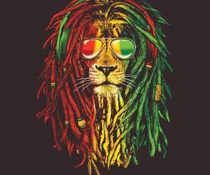 reggae, lion, and rasta image