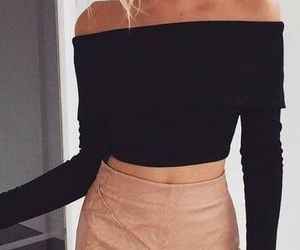 black top, outfit, and style image