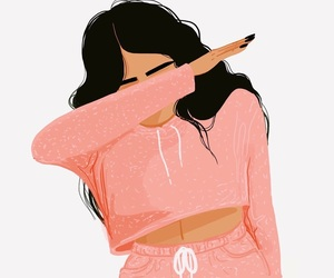 dab, pink, and wallpaper image