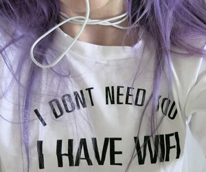 grunge, hair, and wifi image