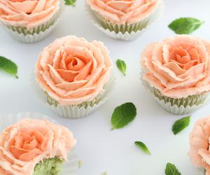 cupcake, dessert, and rose image