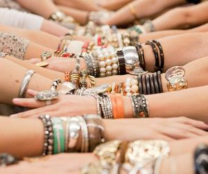 bracelet, accessories, and hands image