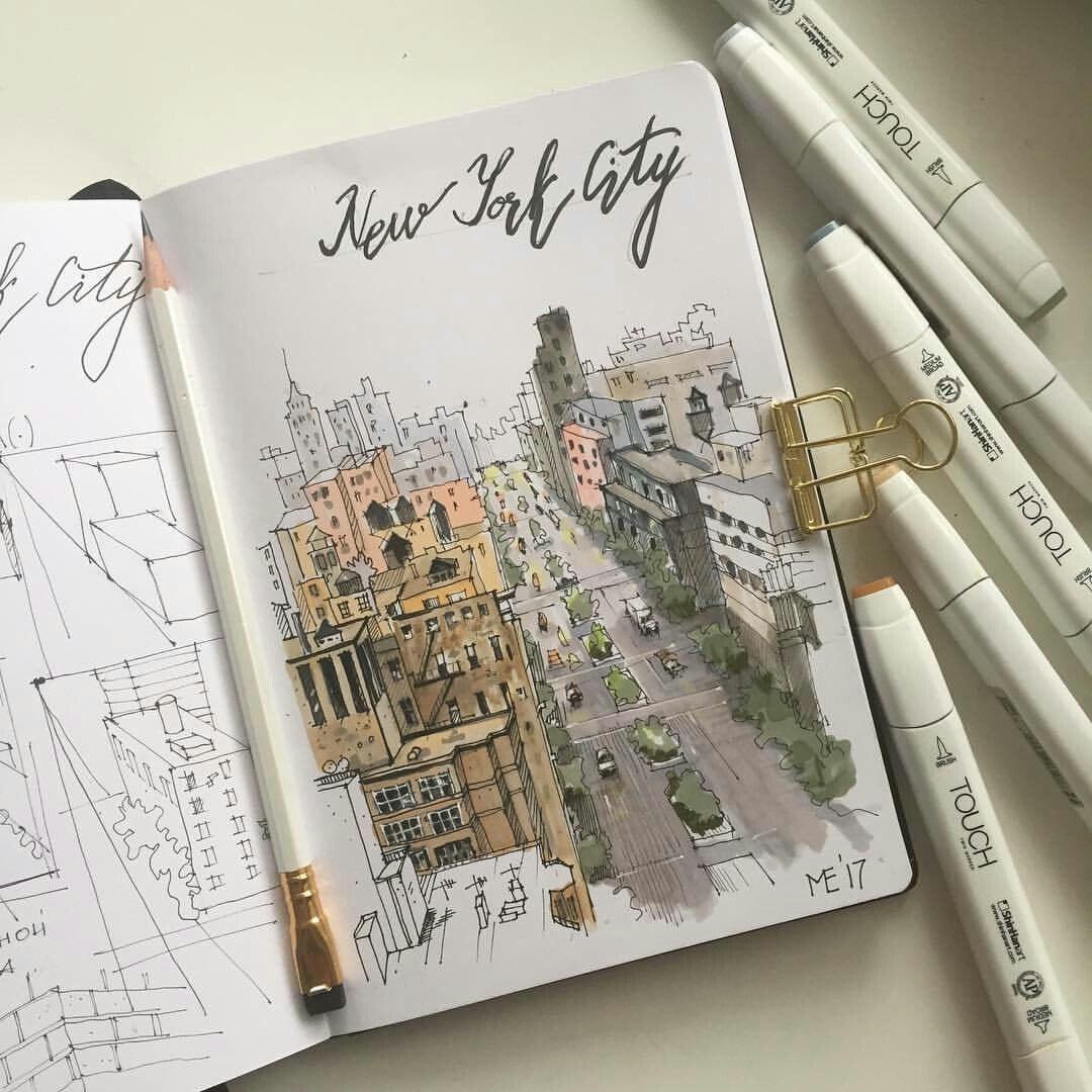 art, draw, and new york city image