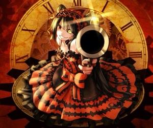 date a live, gun, and kurumi image
