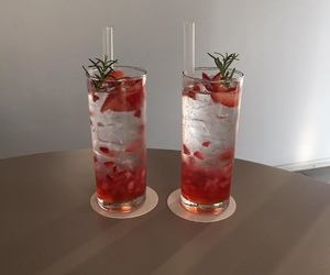 drink, red, and cocktail image