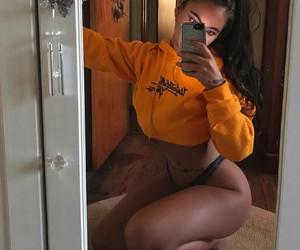 mirror selfie, girl, and body goals image